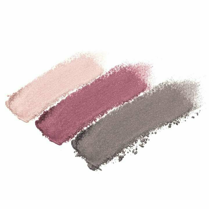 Twilight - shimmery medium pink, shimmery berry, shimmery platinum