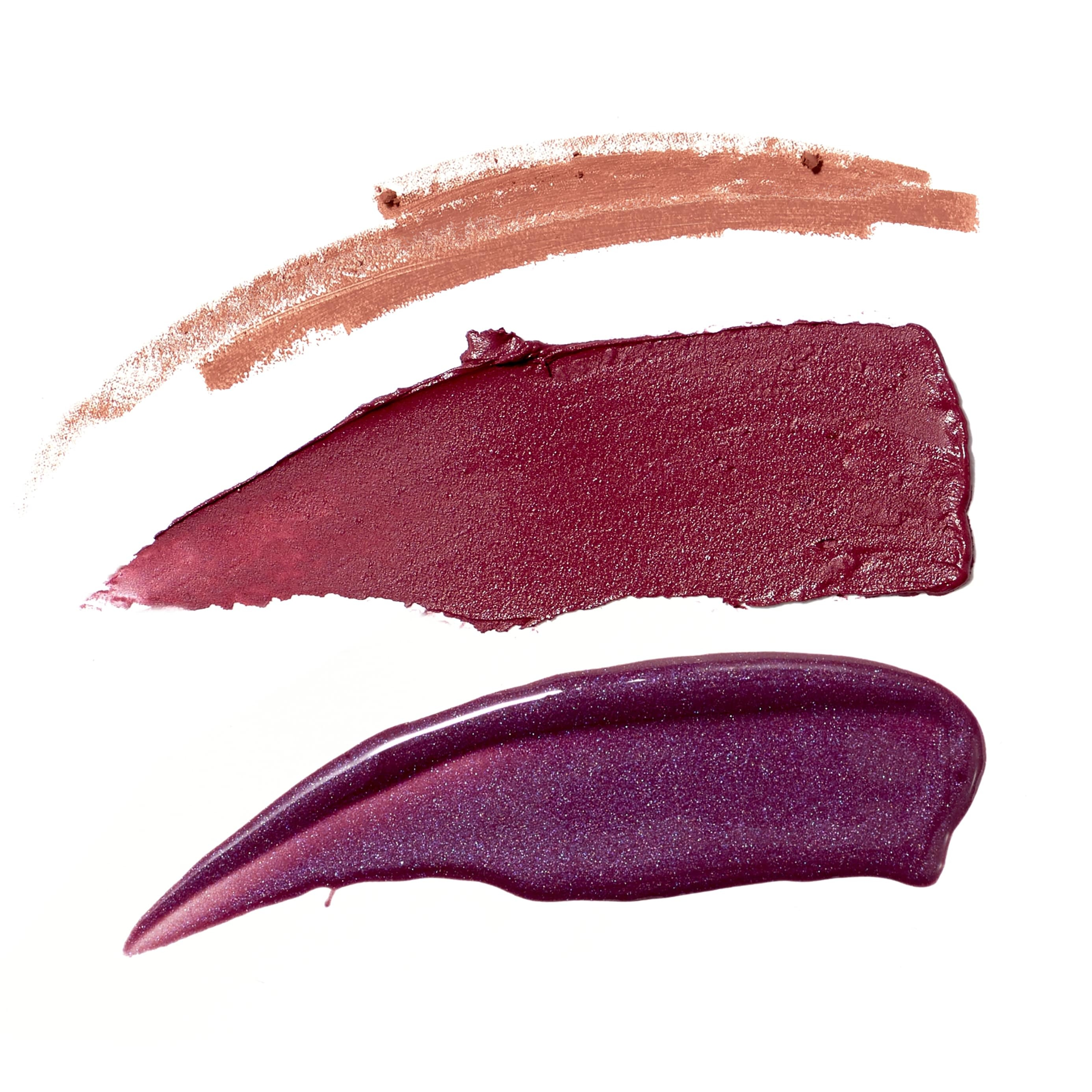 Berry Fierce - plum with pink undertones, light pink brown, plum