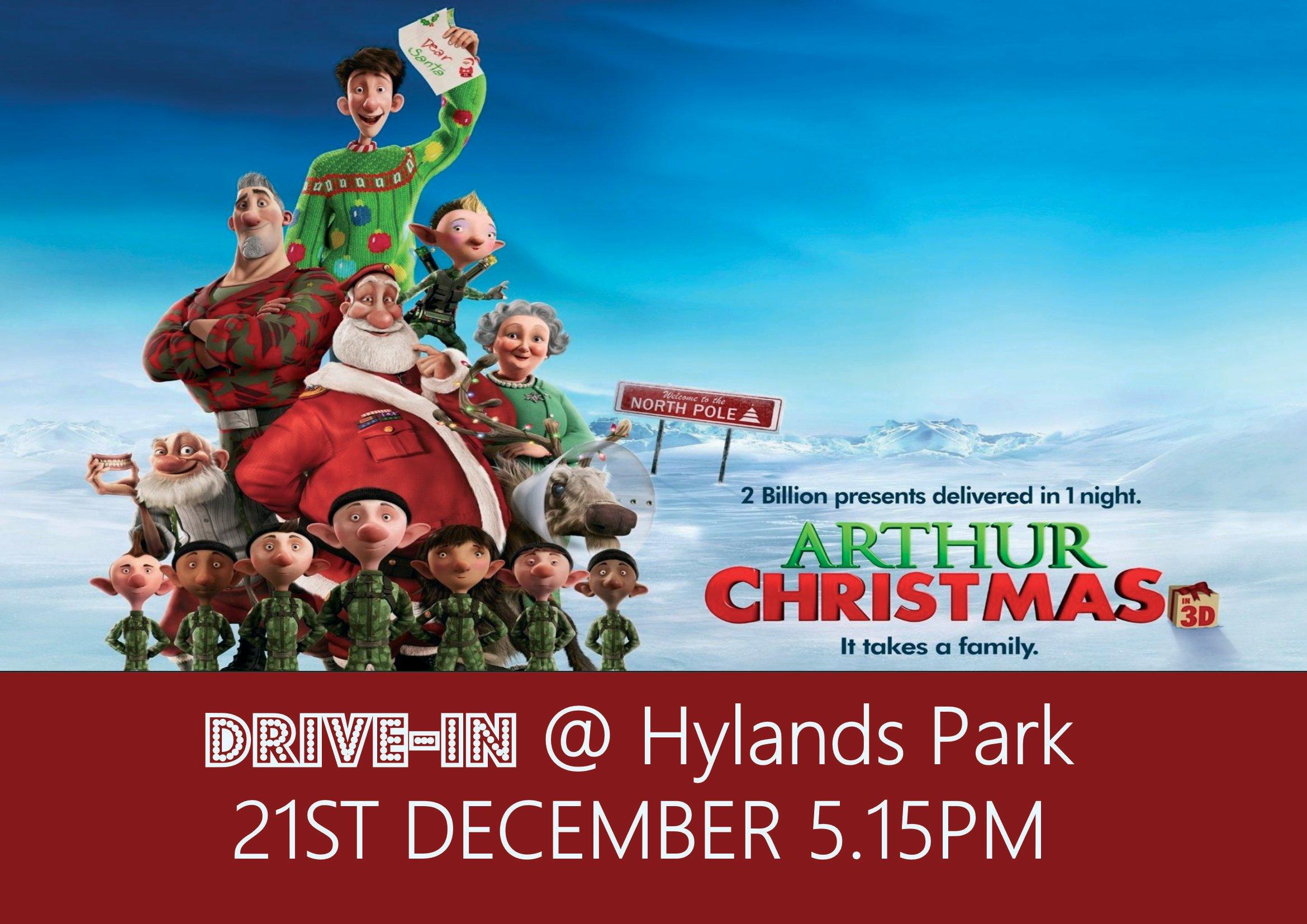Arthur Christmas Drive In Hylands Park 21st Dec 00044