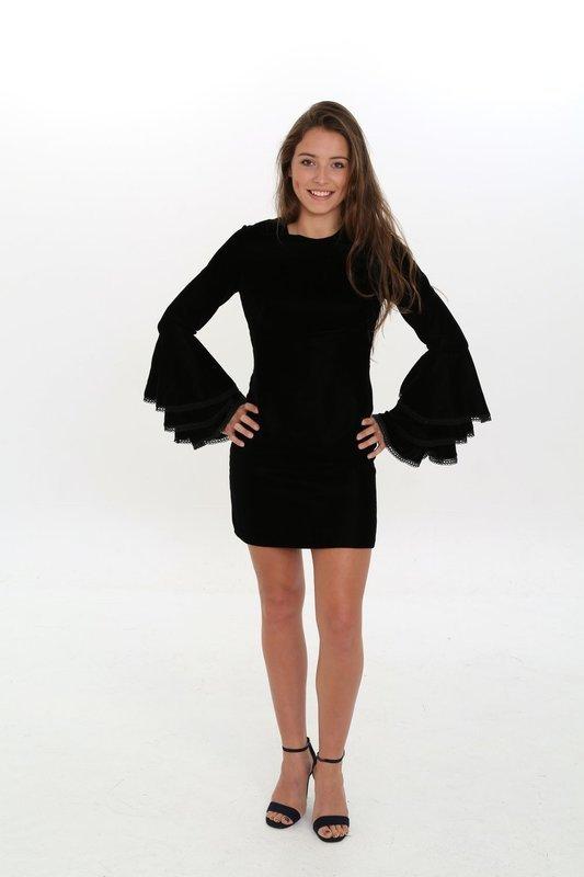Dahlia Short Velvet Dress