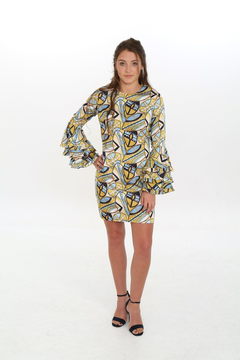 Jazzy Satin Print Dress