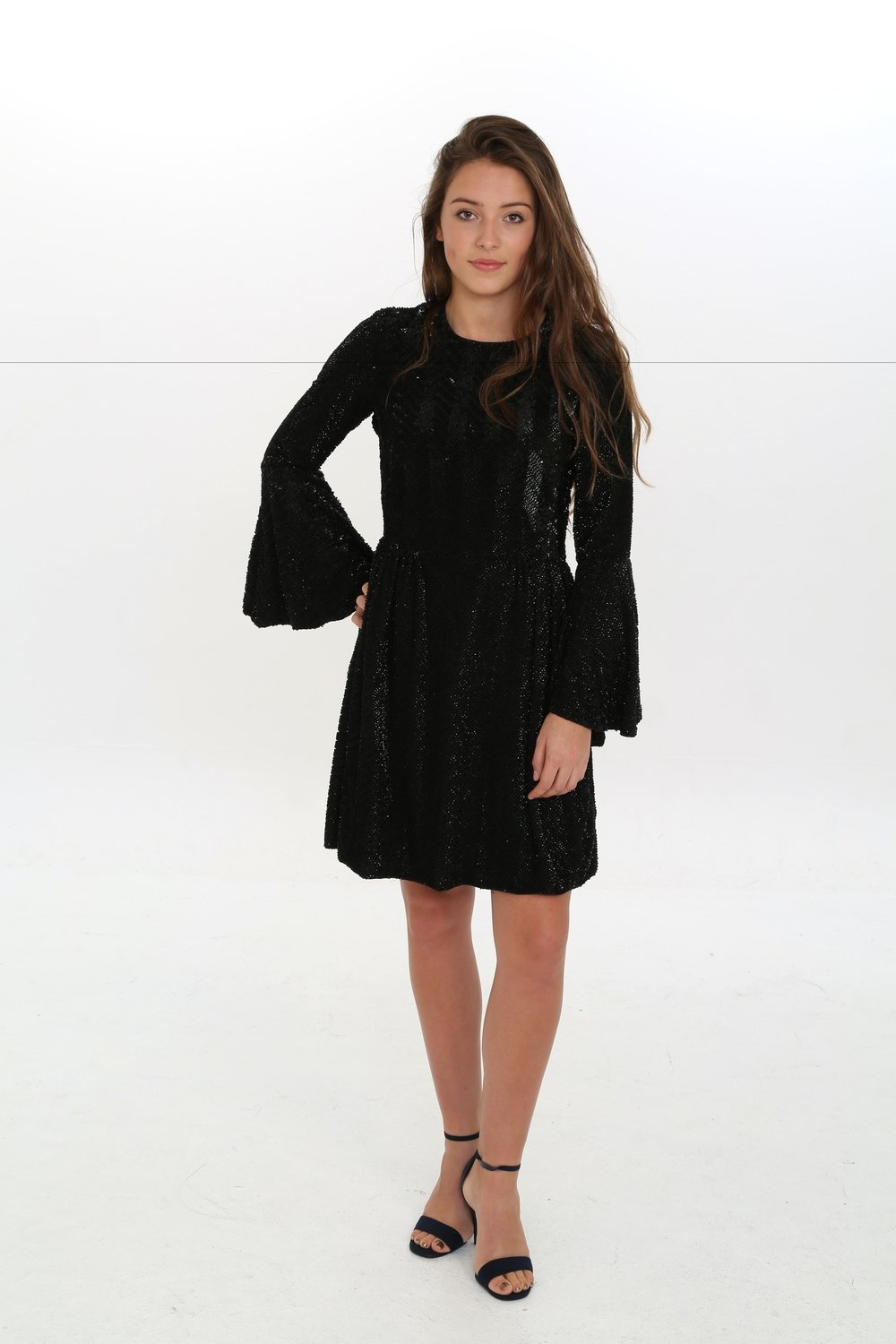 Zinnia Black Dress