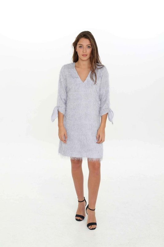 Grey Furry Dress