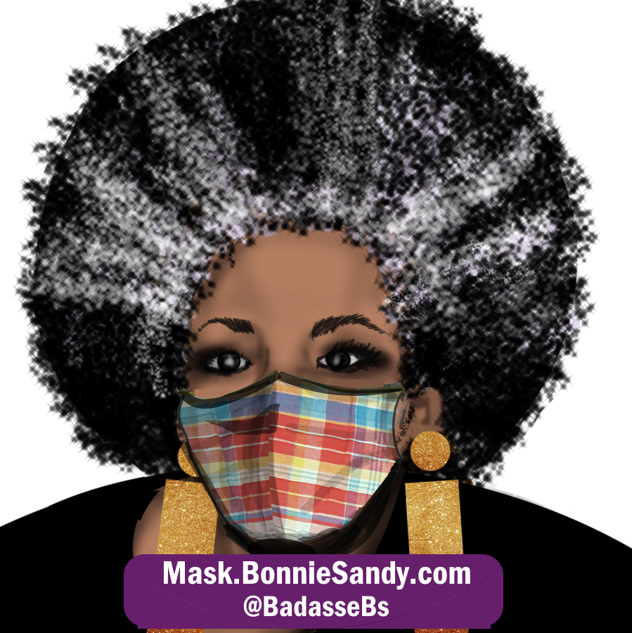 Candy Plaid Face Cover Mask