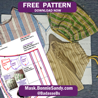 Printable Face Cover Mask Pattern