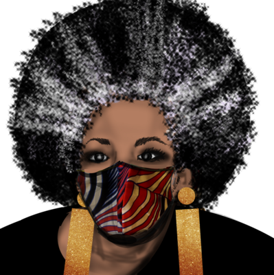 Red White and Black Face Cover Mask