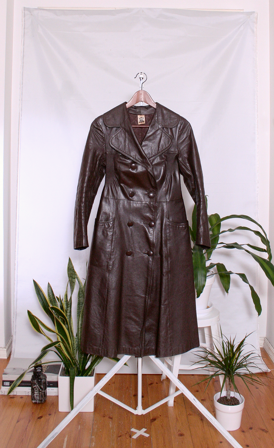 Vintage 70's Leather Jacket (naisten 38/S-M)
