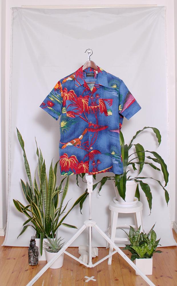 Vintage Hawaiian Shirt (miesten M / naisten L) 34000090000768