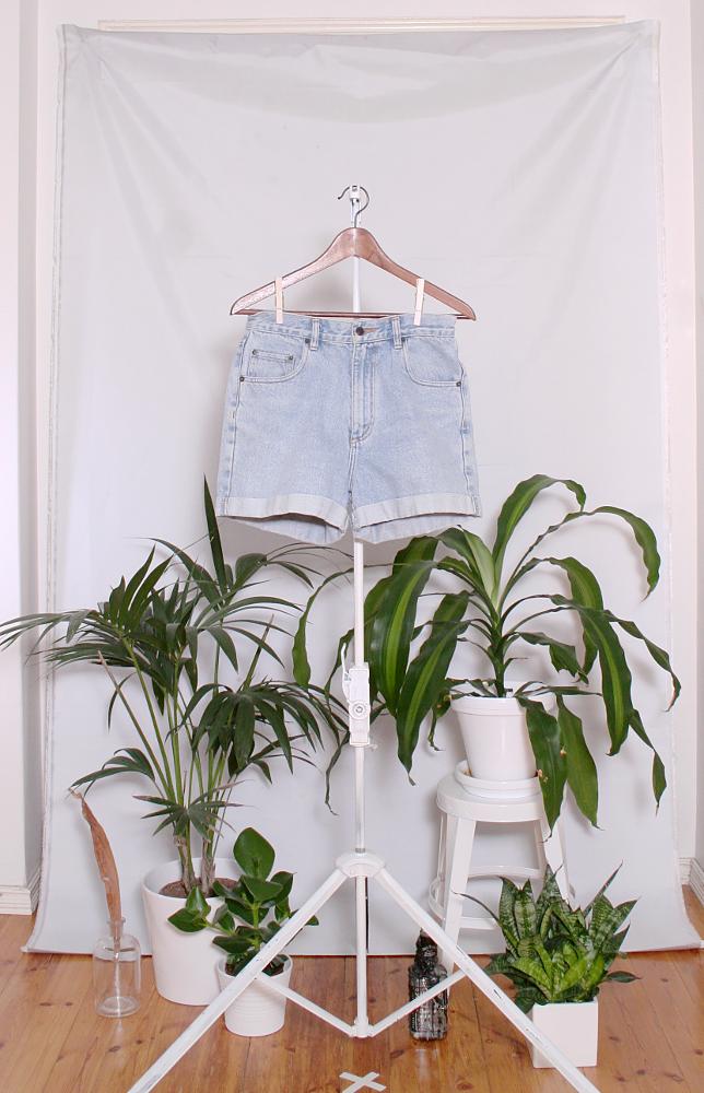 Vintage Denim Shorts (naisten M / miesten XS) 34000076000783