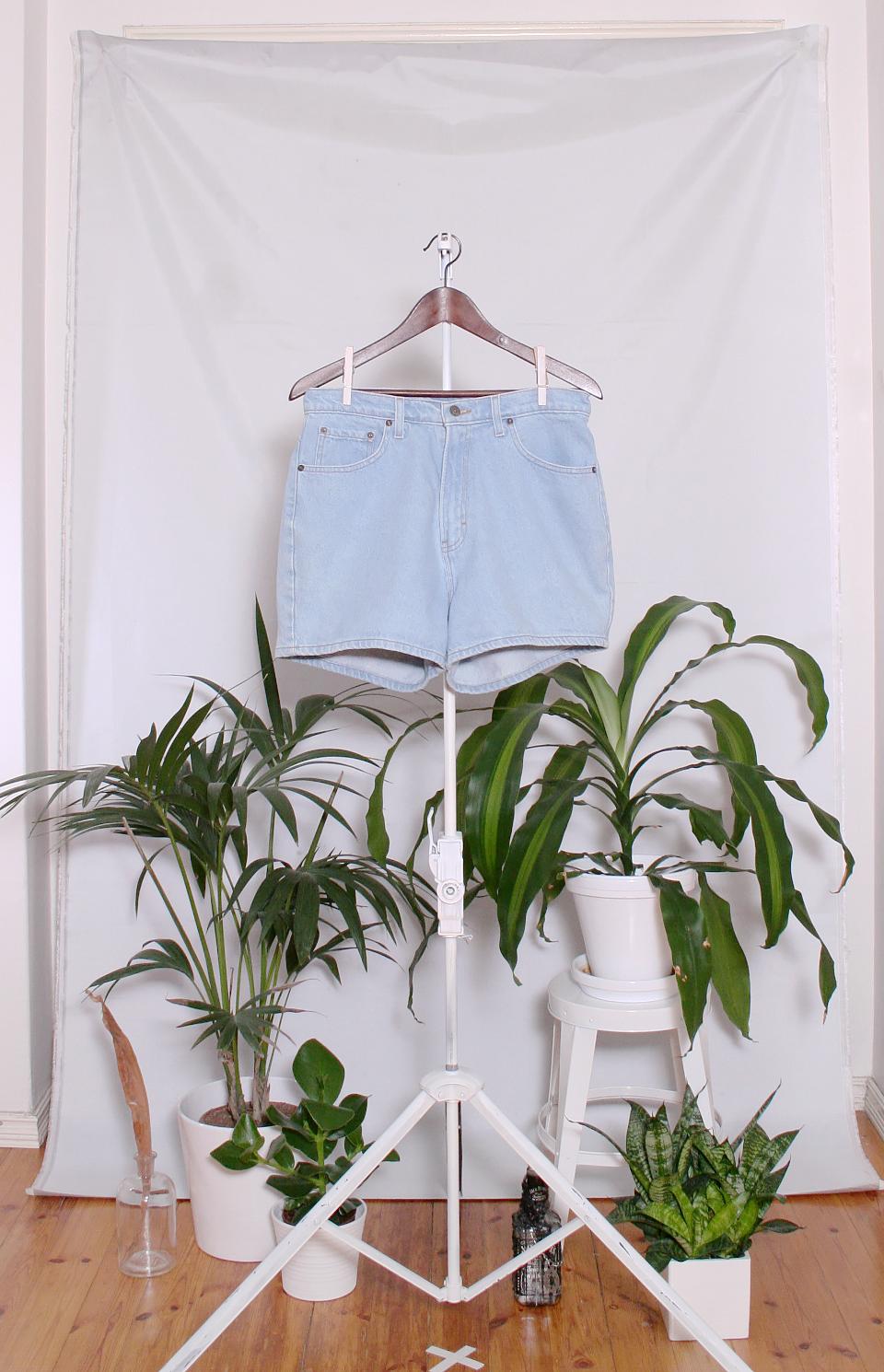 Vintage Denim Shorts (naisten L / miesten S)