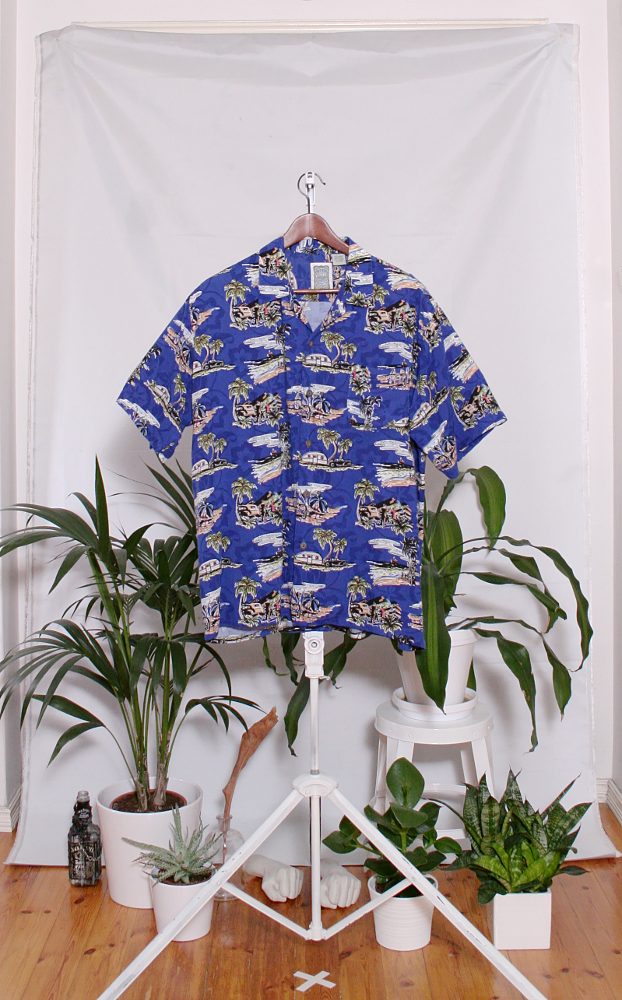 Vintage Hawaiian Shirt (miesten L / naisten XL) 34000090000794