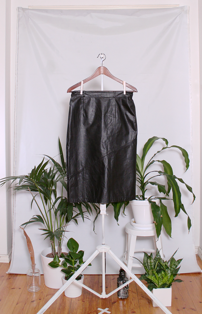 Vintage Leather Skirt (naisten M) 60000170000790