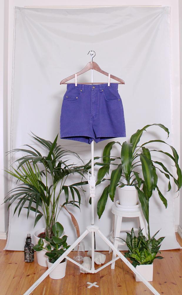 Vintage Denim Shorts (naisten S / miesten XXS) 34000076000805