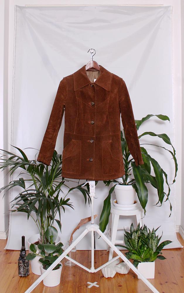Vintage 70's Suede Leather Jacket (naisten S-M) 60000316000485