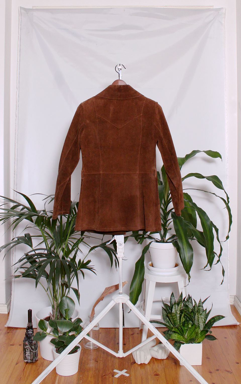 Vintage 70's Suede Leather Jacket (naisten S-M)