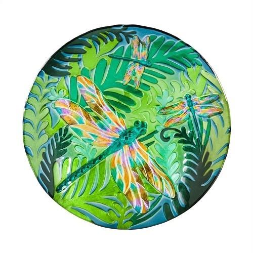 Birdbath Bowl - Iridescent Dragonfly