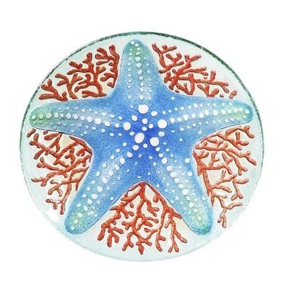 Birdbath Bowl - Shimmering Starfish