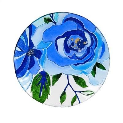 Birdbath Bowl - Blue Floral