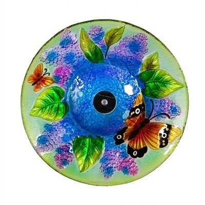 Birdbath Bowl - Solar Butterfly