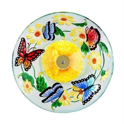 Birdbath Bowl - Solar Flight of Butterflies