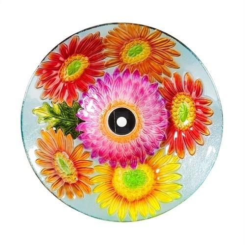 Birdbath Bowl - Solar Daisies