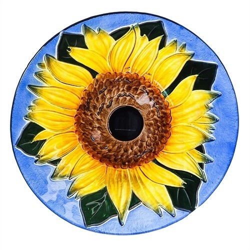 Birdbath Bowl - Solar Sunflower