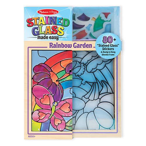 Rainbow Stained Glass Hummingbird