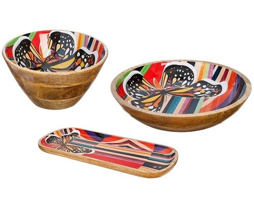 Butterfly Wood Bowl or Tray
