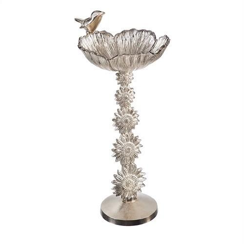 Birdbath - Pedestal Silver