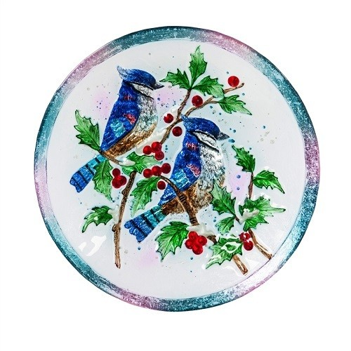 Birdbath Bowl - Blue Bird