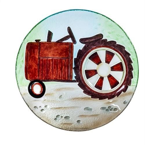 Birdbath Bowl - Red Tractor