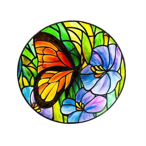 Birdbath Bowl - Art Nouveau Butterfly