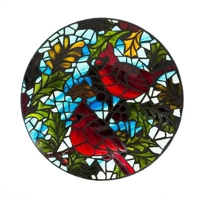 Birdbath Bowl - Art Nouveau Cardinals