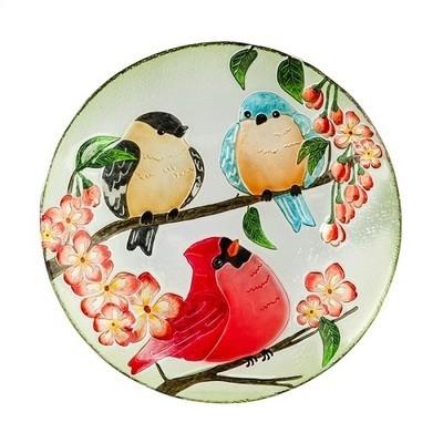 Birdbath Bowl - Trio of Birds