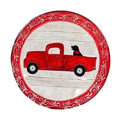 Birdbath Bowl - Holiday Red Truck