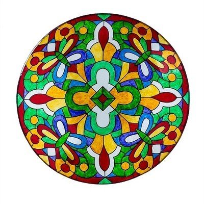 Birdbath Bowl - Tiffany Stained Glass