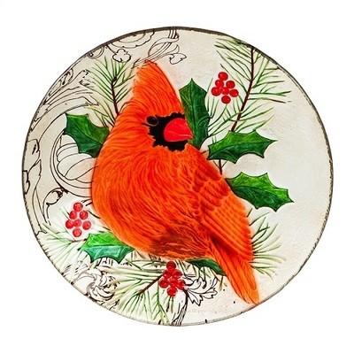 Birdbath Bowl - Large Cardinal