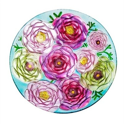 Birdbath Bowl - Bouquet of Flowers