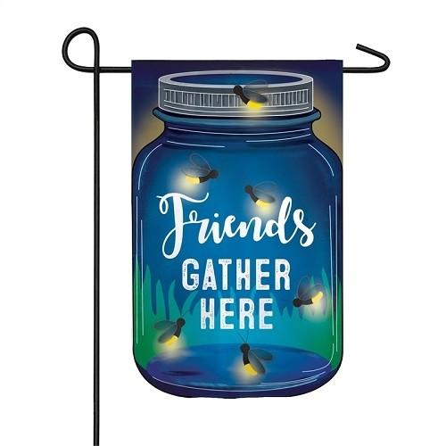 Garden Flag - Solar Firefly Friends