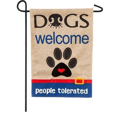 Garden Flag - Dogs Welcome