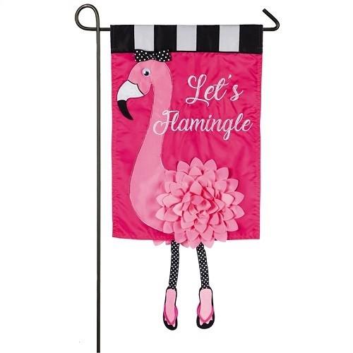 Garden Flag - Let's Flamingle