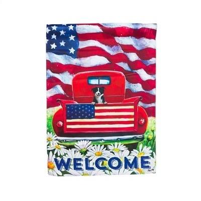 Garden Flag - Patriotic Pup Truck
