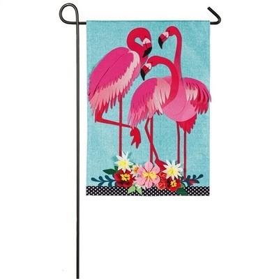 Garden Flag - Flamingo Garden