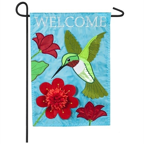 Garden Flag - Hummingbird Welcome