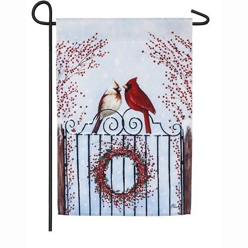 Garden Flag - Winter Birds