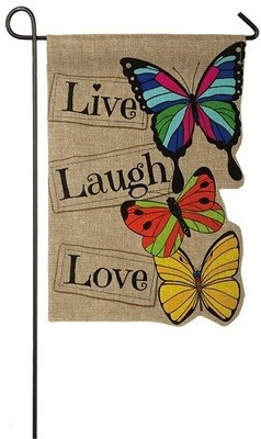 Garden Flag - Live Laugh Love