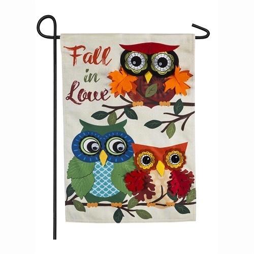 Garden Flag - Autumn Owls