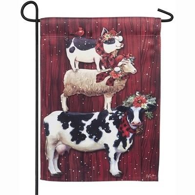 Garden Flag - Christmas Farm Stack