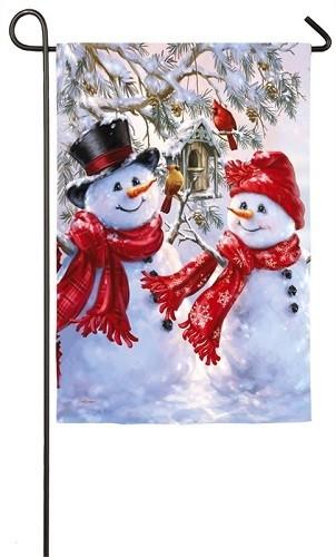 Garden Flag - Snow Sweethearts
