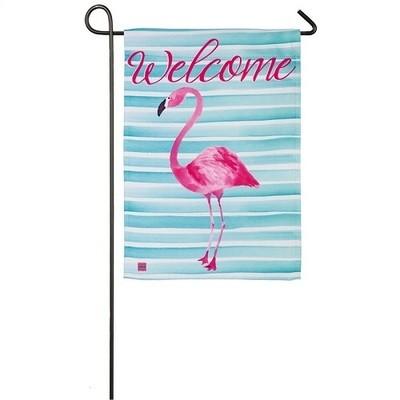 Garden Flag - Flamingo Stripes